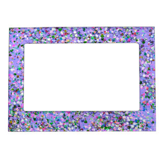 Multicolor Mosaic Modern Grit Glitter #6 Magnetic Picture Frame
