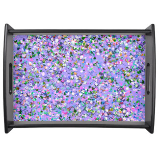 Multicolor Mosaic Modern Grit Glitter #6 Serving Tray