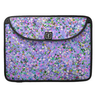 Multicolor Mosaic Modern Grit Glitter #6 Sleeve For MacBook Pro
