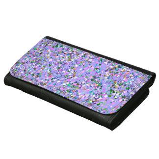 Multicolor Mosaic Modern Grit Glitter #6 Wallets For Women