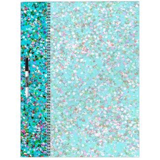 Multicolor Mosaic Modern Grit Glitter #7 Dry Erase Board