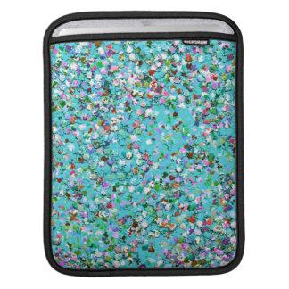 Multicolor Mosaic Modern Grit Glitter #7 iPad Sleeve