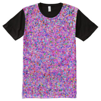 Multicolor Mosaic Modern Grit Glitter #8 All-Over Print T-Shirt