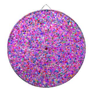 Multicolor Mosaic Modern Grit Glitter #8 Dartboard