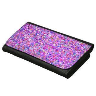 Multicolor Mosaic Modern Grit Glitter #8 Leather Wallets