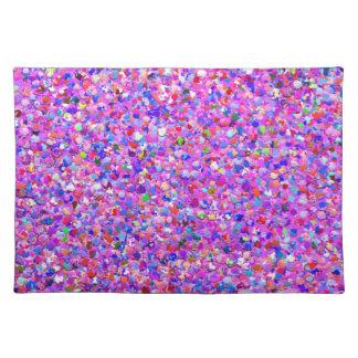 Multicolor Mosaic Modern Grit Glitter #8 Placemat