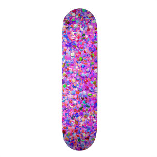 Multicolor Mosaic Modern Grit Glitter #8 Skate Boards