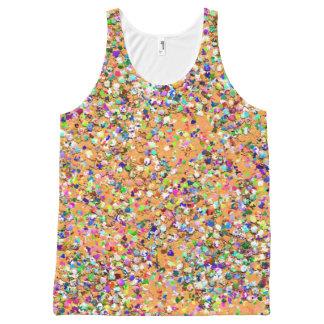 Multicolor Mosaic Modern Grit Glitter #9 All-Over Print Singlet