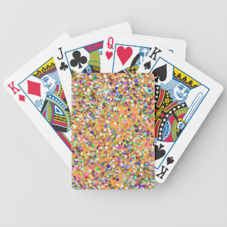 Multicolor Mosaic Modern Grit Glitter #9 Bicycle Playing Cards