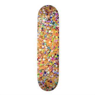 Multicolor Mosaic Modern Grit Glitter #9 Custom Skateboard