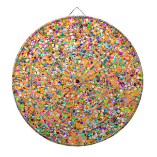 Multicolor Mosaic Modern Grit Glitter #9 Dartboard