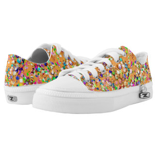 Multicolor Mosaic Modern Grit Glitter #9 Low Tops