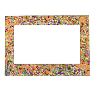Multicolor Mosaic Modern Grit Glitter #9 Magnetic Picture Frame