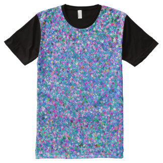 Multicolor Mosaic Modern Grit Glitter All-Over Print T-Shirt