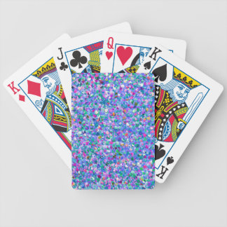 Multicolor Mosaic Modern Grit Glitter Bicycle Playing Cards