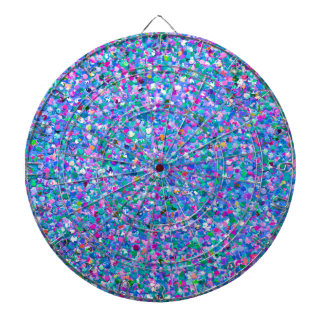 Multicolor Mosaic Modern Grit Glitter Dartboard