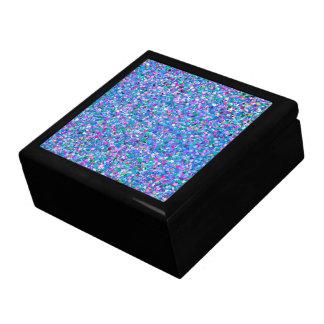 Multicolor Mosaic Modern Grit Glitter Gift Box