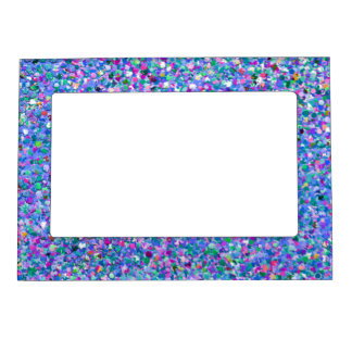 Multicolor Mosaic Modern Grit Glitter Magnetic Picture Frame