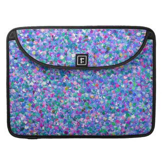 Multicolor Mosaic Modern Grit Glitter Sleeve For MacBook Pro
