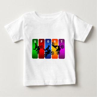 Multicolor Motocross Emblem Baby T-Shirt