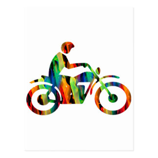 MULTICOLOR MOTORCYCLE PRODUCTS POSTCARD