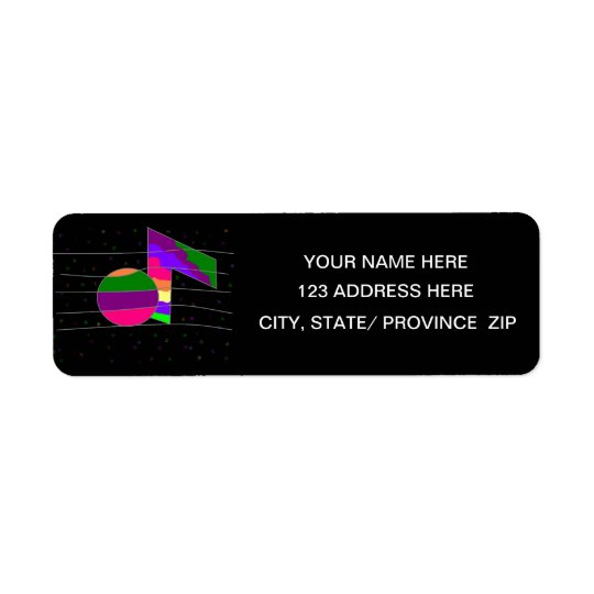 Multicolor Musical Note  Return Address Label