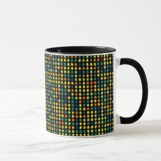 Multicolor oval pattern mug