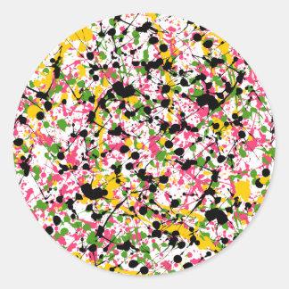 Multicolor Paint Splatter Envelope Seal Round Sticker