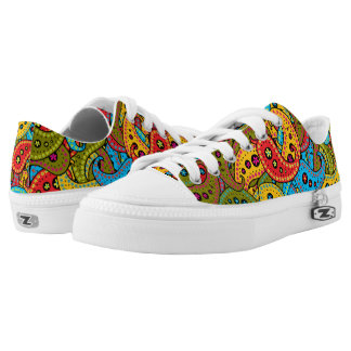 Multicolor Paisley Low Tops