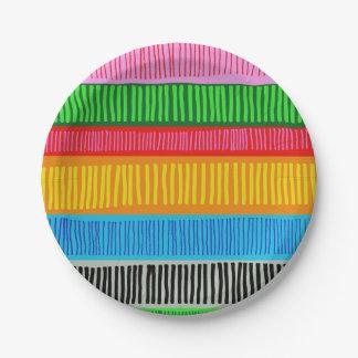 multicolor paper plate