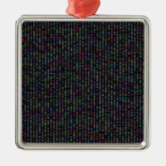 Multicolor Pattern Metal Ornament