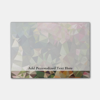 Multicolor Pink & Green Triangle Geometric Design Post-it® Notes