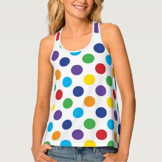 Multicolor Polka Dot pattern Singlet