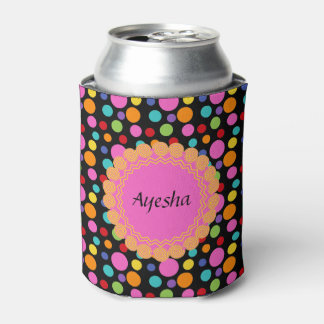 Multicolor Polka Dots Can Cooler