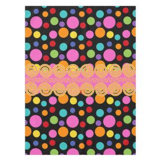 Multicolor Polka Dots Cotton Tablecloth