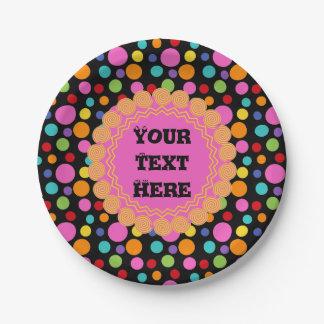 Multicolor Polka Dots Paper Plates