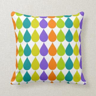 Multicolor Raindrops3 Graphic Cushion
