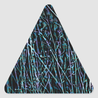 Multicolor Reeds in Blue and Purple Triangle Sticker