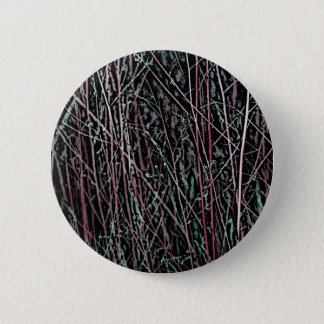 Multicolor Reeds in Pink and Green 6 Cm Round Badge