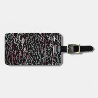 Multicolor Reeds in Pink and Green Luggage Tag