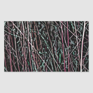 Multicolor Reeds in Pink and Green Rectangular Sticker