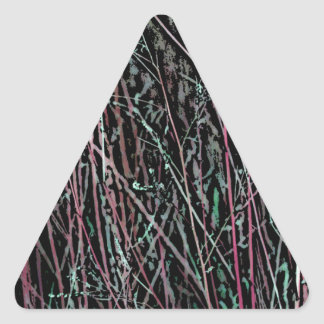 Multicolor Reeds in Pink and Green Triangle Sticker
