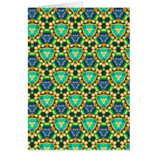 Multicolor repeat pattern cards