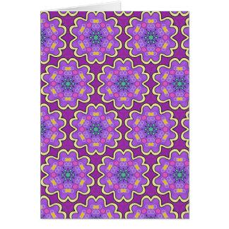 Multicolor repeat pattern card