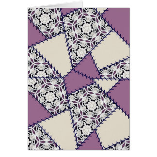 Multicolor repeat pattern greeting card