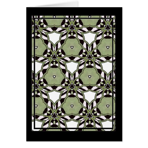 Multicolor repeat pattern greeting cards