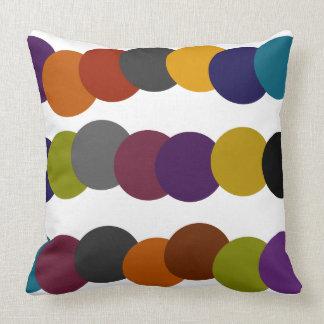 Multicolor Retro Bubble Graphic Cushion