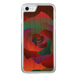 Multicolor Rose, Carved iPhone 7 Case