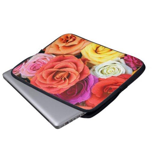 Multicolor Roses Illustration Design Laptop Sleeves