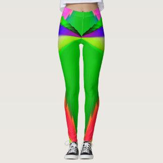 Multicolor Shimmering Fractal Design Leggings